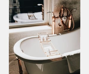 bath, gold, and bathroom image