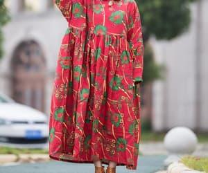 etsy, long dress, and womens linen dress image