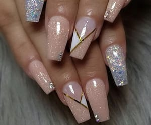 beauty, bling, and manicure image