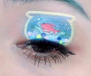 eyes, fishbowl, and Harajuku image