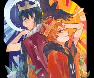 tumblr, sun and moon, and haikyuu!! image