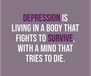 depression, depression quote, and quote image