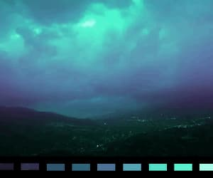 blue, gif, and night image