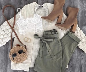 accesories, bralette, and cardigan image