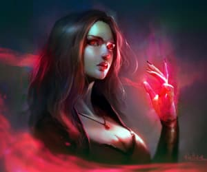 scarlet witch, art, and boy image