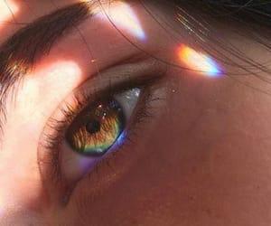rainbow, aesthetic, and eyes image