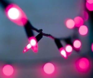 aesthetic, christmas lights, and lights image