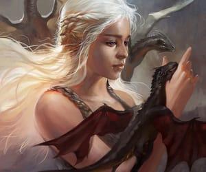 art, daenerys targaryen, and game of thrones image