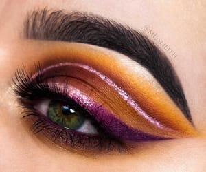 beauty, makeup, and purple image