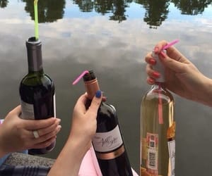friends, wine, and drink image