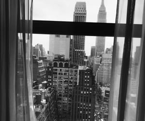 black and white, cities, and new york image