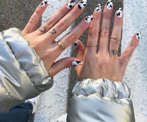 nails, nail art, and cow image