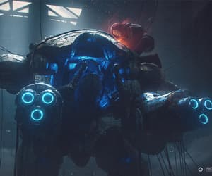 fanart, mech, and sci-fi image