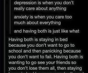 anxiety, depression, and sad image