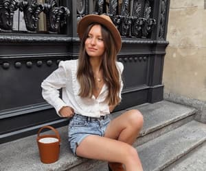 accesories, denim, and hat image