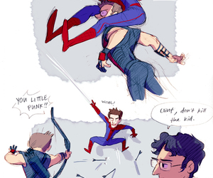 funny, spiderman, and the amazing spiderman image