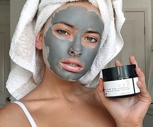 beauty, face mask, and model image