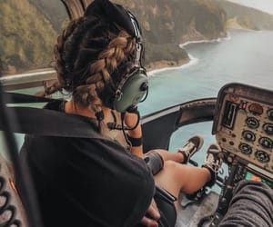 braids, helicopter, and life image