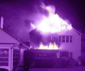 purple, flame, and aesthetic image