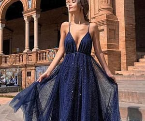 backless, evening dresses, and navy blue image