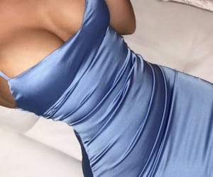 blue, dress, and groovy image