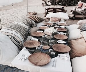 beach, summer, and dinner image