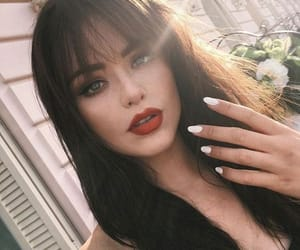 aesthetic, make up, and bangs image