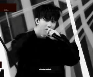 black and white, seo changbin, and gif image