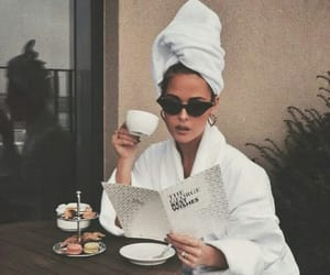 girl, coffee, and relax image