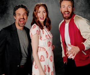chris evans, mark ruffalo, and karen gillan image