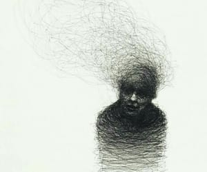 anxiety, art, and black image