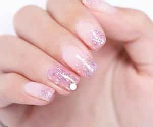 manicure, nail, and pink nails image