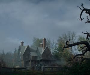 creepy, dark, and dream house image