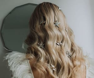 blonde, galaxy, and stars image