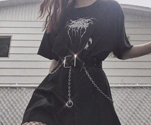 aesthetic, gothic, and chains image