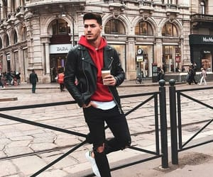 masculine, outfit, and man style image