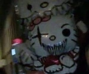 hello kitty, aesthetic, and goth image
