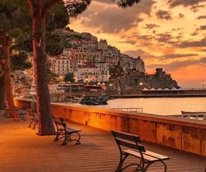 sunset, italy, and travel image