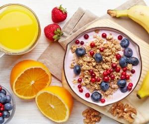 Fruit dessert breakfast