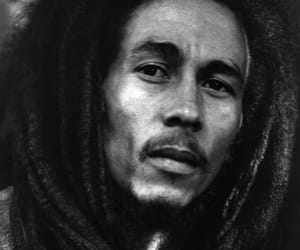 black and white, bob marley, and dreads image