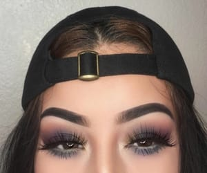 cap, eyes, and lashes image