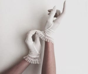 gloves, aesthetic, and white image
