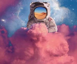 clouds, pink, and psychedelic image