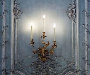 candle, light, and blue image