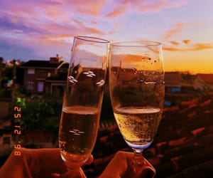 champaign, cheers, and drink image