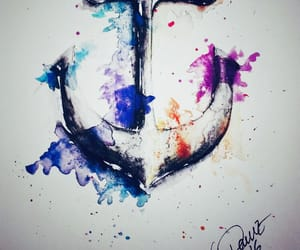 anchor, water colour, and art image