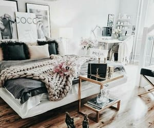 room, interior, and bed image