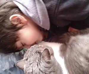 love of my life, cat, and nephew image