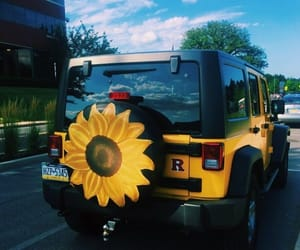 jeep, sunflower, and tumblr image