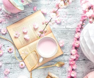 blossom, books, and coffee image